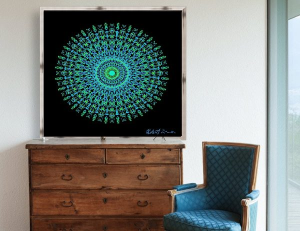 Mandala Colour Therapy Wall Art BrightNightLight WA1003