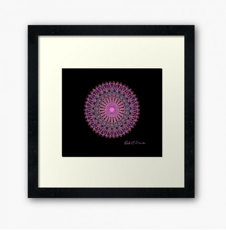 Mandala Colour Therapy Wall Art BrightNightLight WA4002