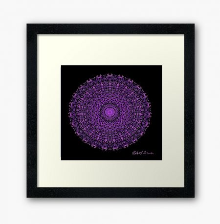 Mandala Colour Therapy Wall Art BrightNightLight WA7001
