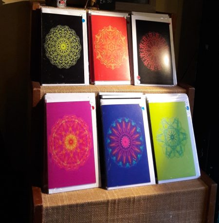 7 Chakras Mandala Greeting Cards