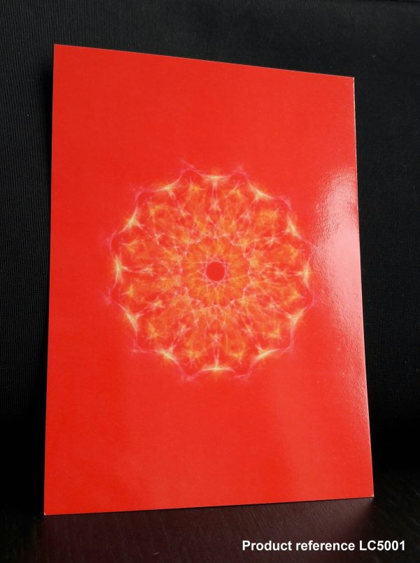 Red Chakra Healing Greeting Card LC5001