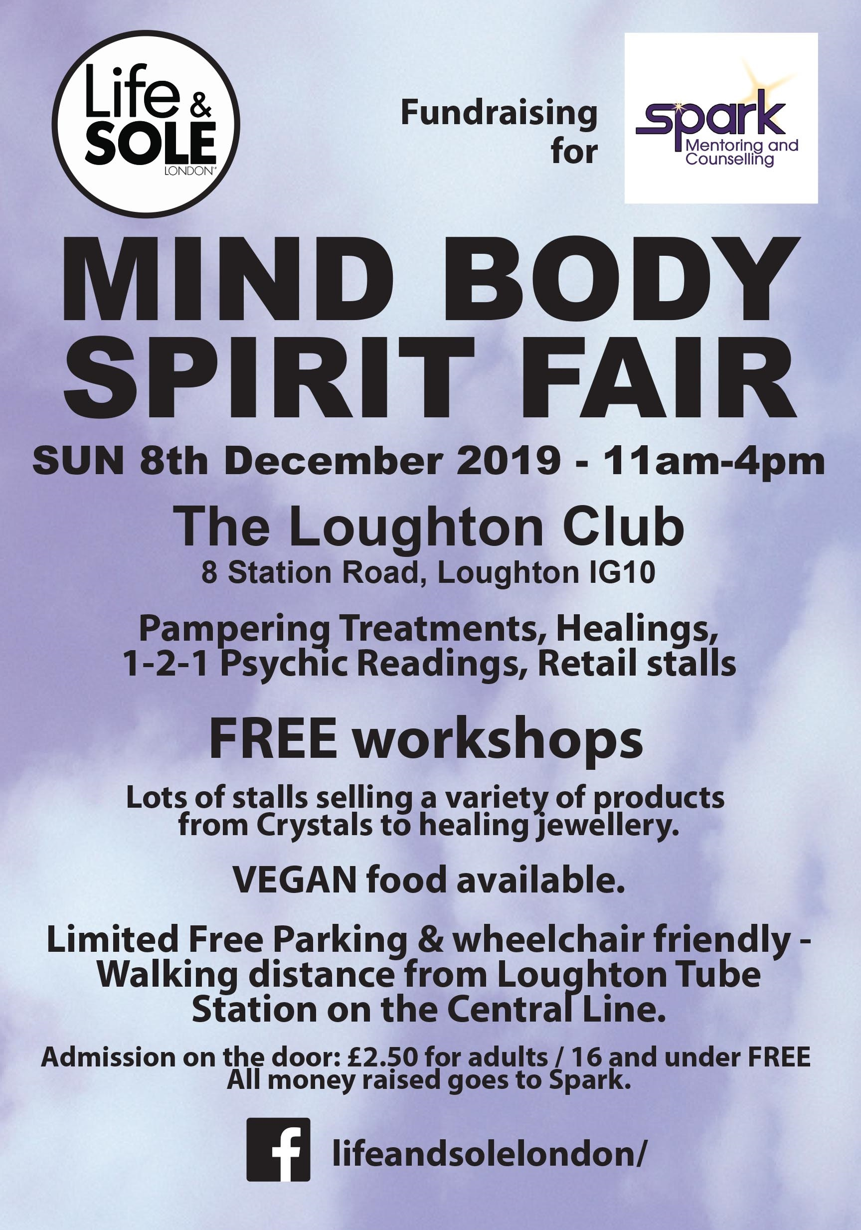 MIND BODY SPIRIT Fair 8 Dec 2019